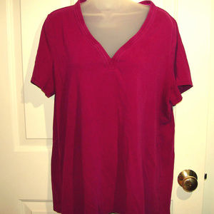 18/20 Venezia Purple Vneck Tshirt